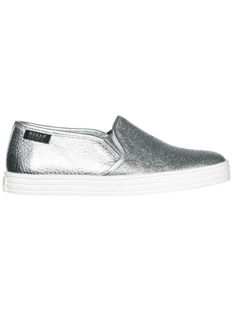 Hogan Rebel R141 Slip-on Shoes - Argento