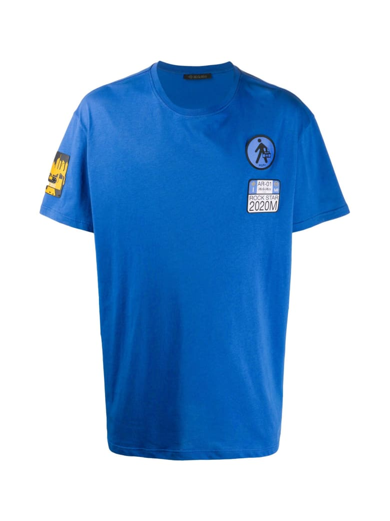 Mr & Mrs Italy Yts0040 Embroidery Oversize T-shirt - ROYAL BLUE