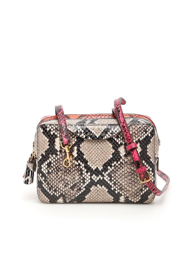 Anya Hindmarch Double Zip Mini Bag - NATURAL BURNT SIENNA (Beige)