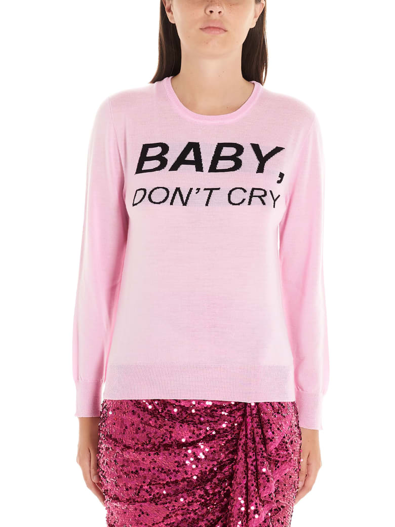 Nervure 'baby Don't Cry' Sweater - Pink