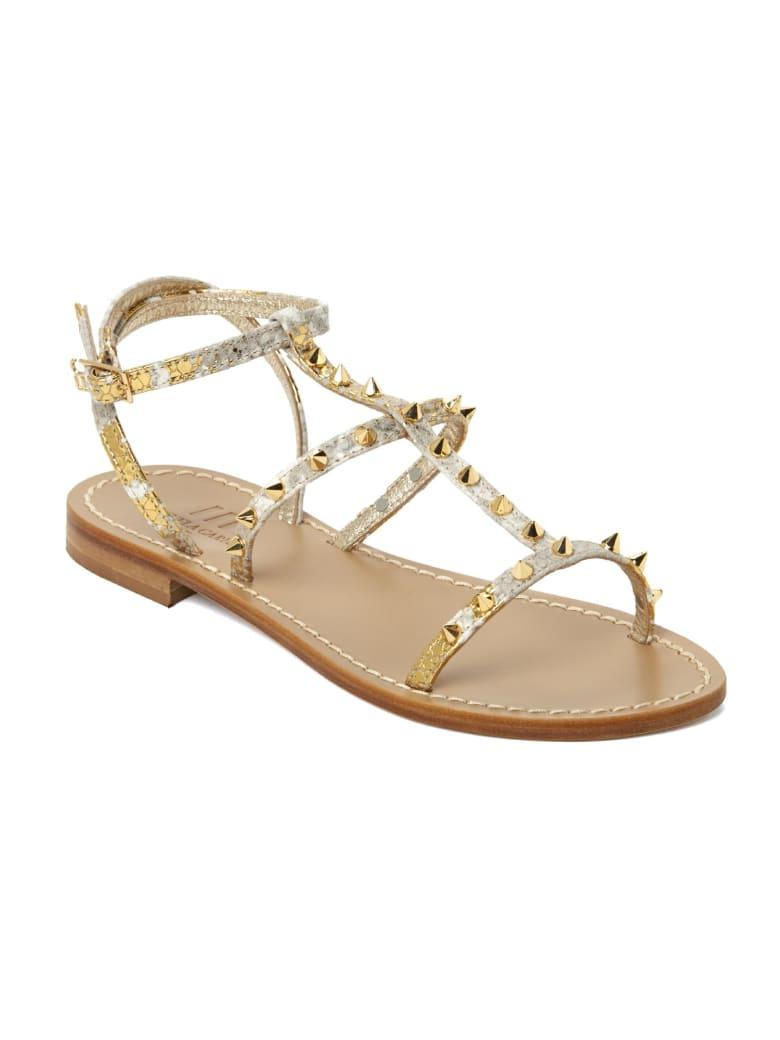 Emanuela Caruso Handmade Flat Monk Sandals - Oro/argento