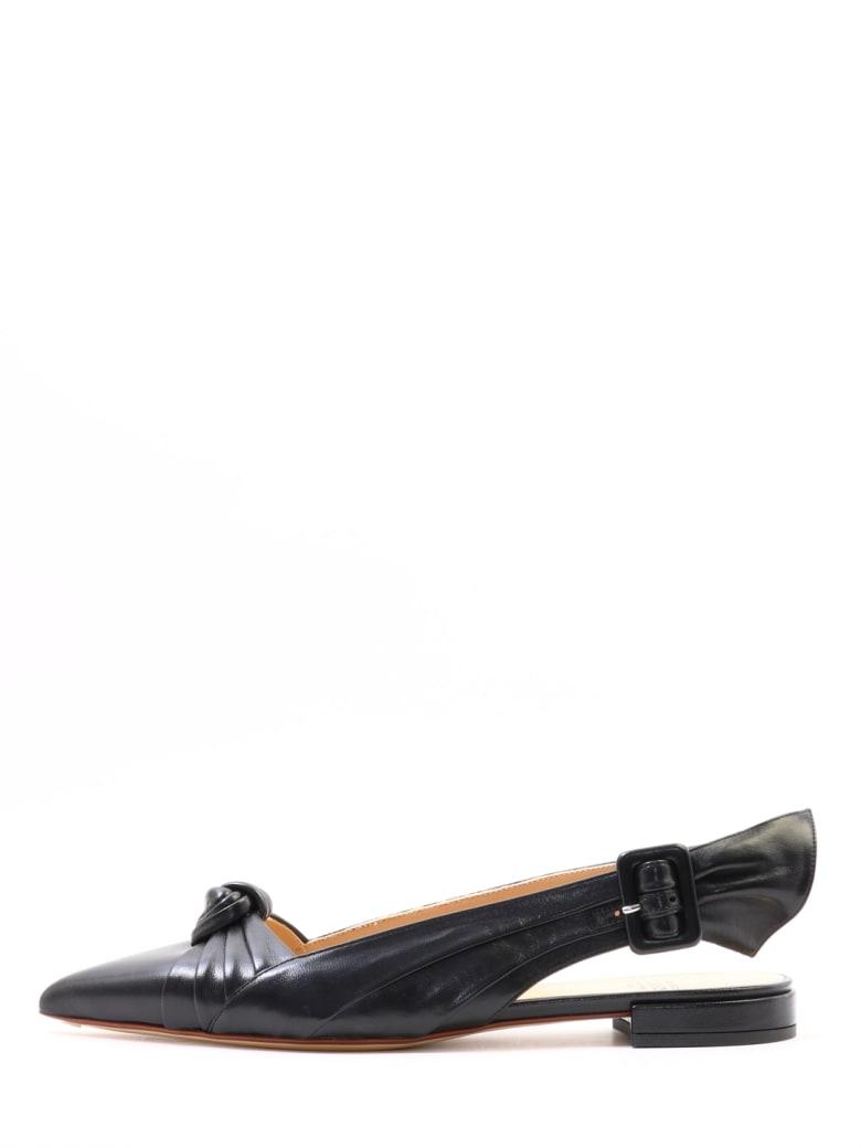 Francesco Russo Ballet Shoes Knot Black - Black