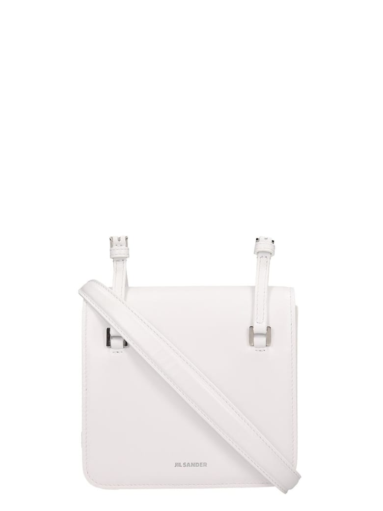 Jil Sander Holster Shoulde Shoulder Bag In White Leather - white