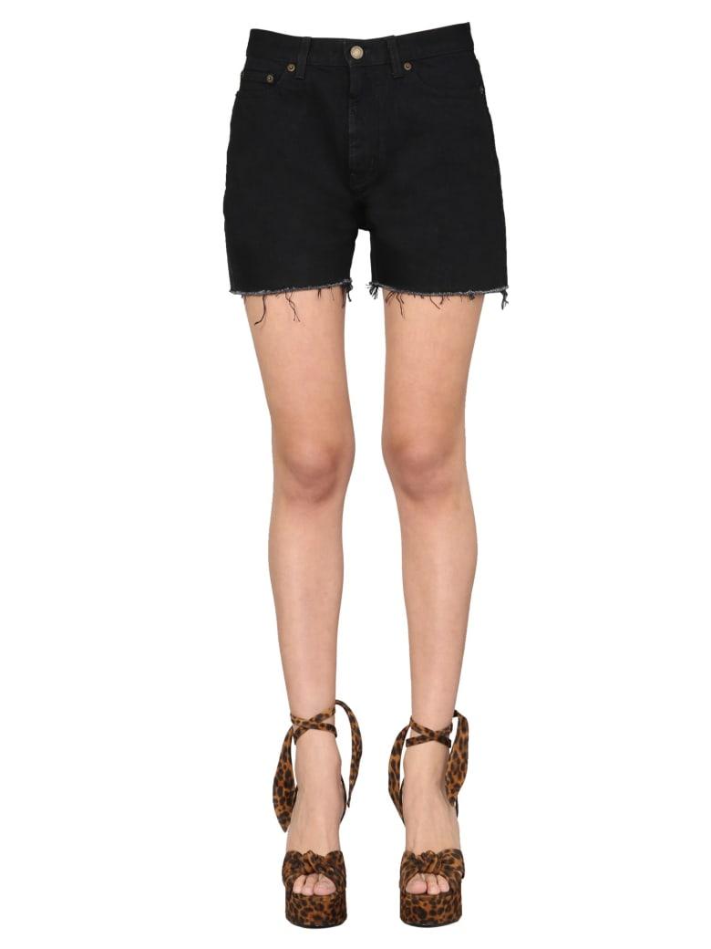 Saint Laurent Denim Shorts - NERO