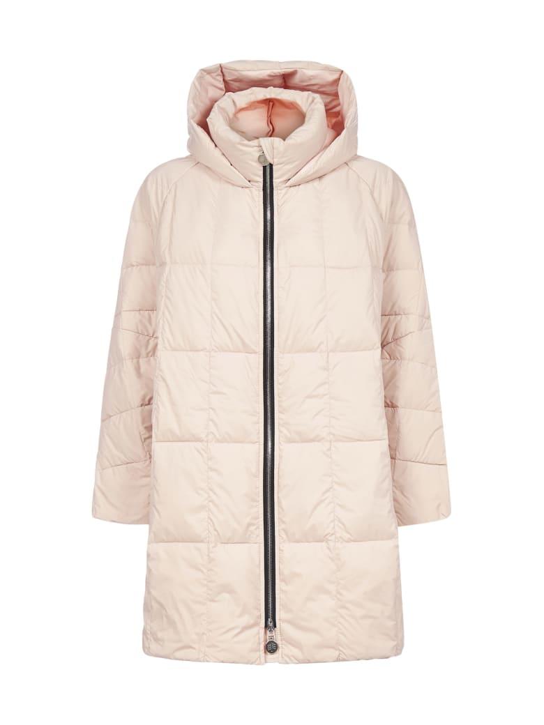 IENKI IENKI Pyramide Cropped Hooded Nylon Down Jacket - Pale pink