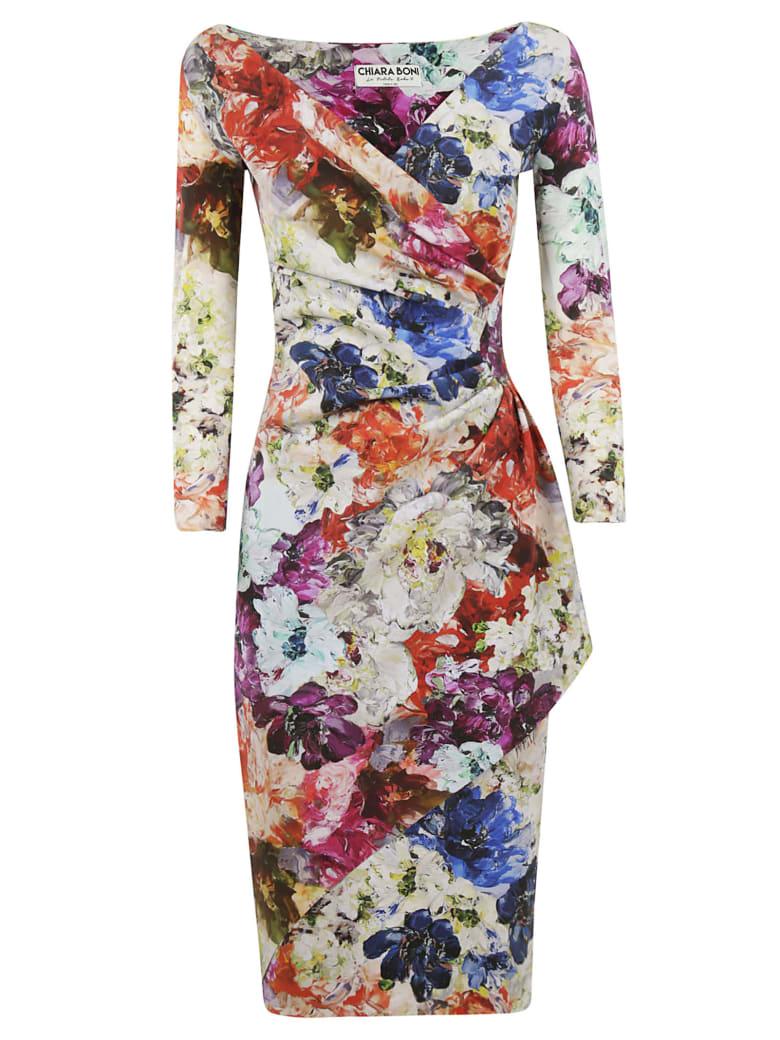 La Petit Robe Di Chiara Boni Chiara Boni Floral Print Draped Dress - Multicolor