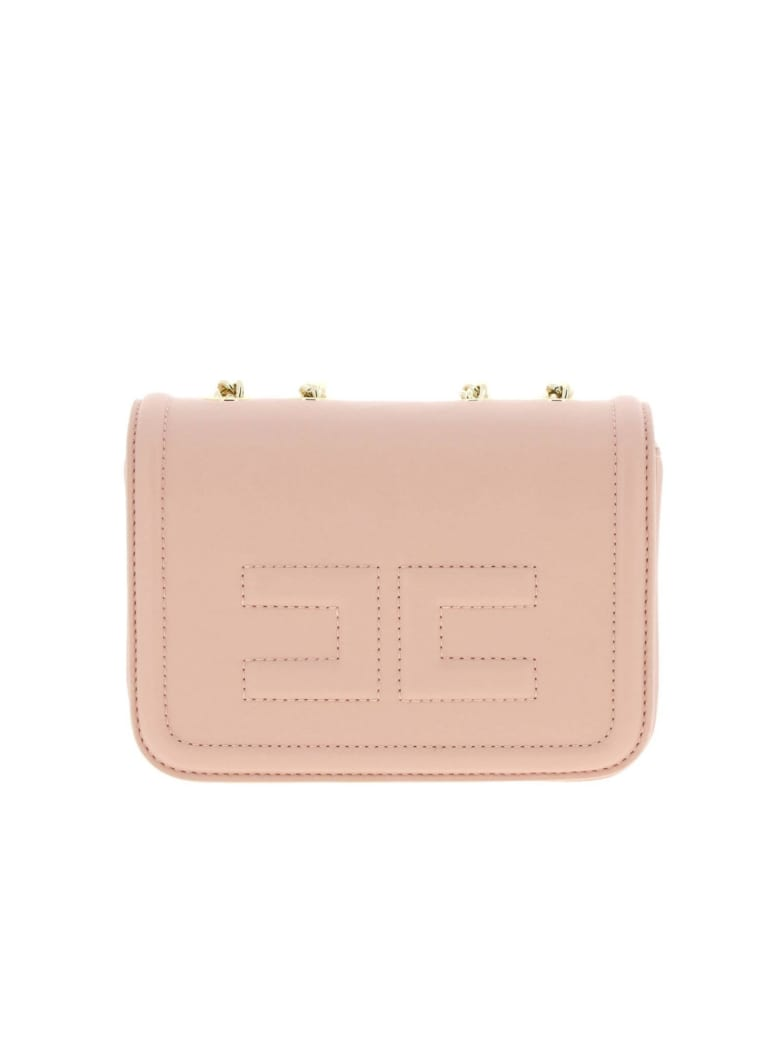 Elisabetta Franchi Celyn B. Elisabetta Franchi Mini Bag Elisabetta Franchi Mini Shoulder Bag In Synthetic Leather With Logo - pink