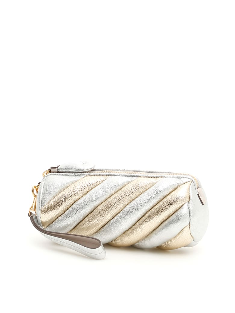 Anya Hindmarch Marshmallow Clutch - SILVERGOLD (Metallic)