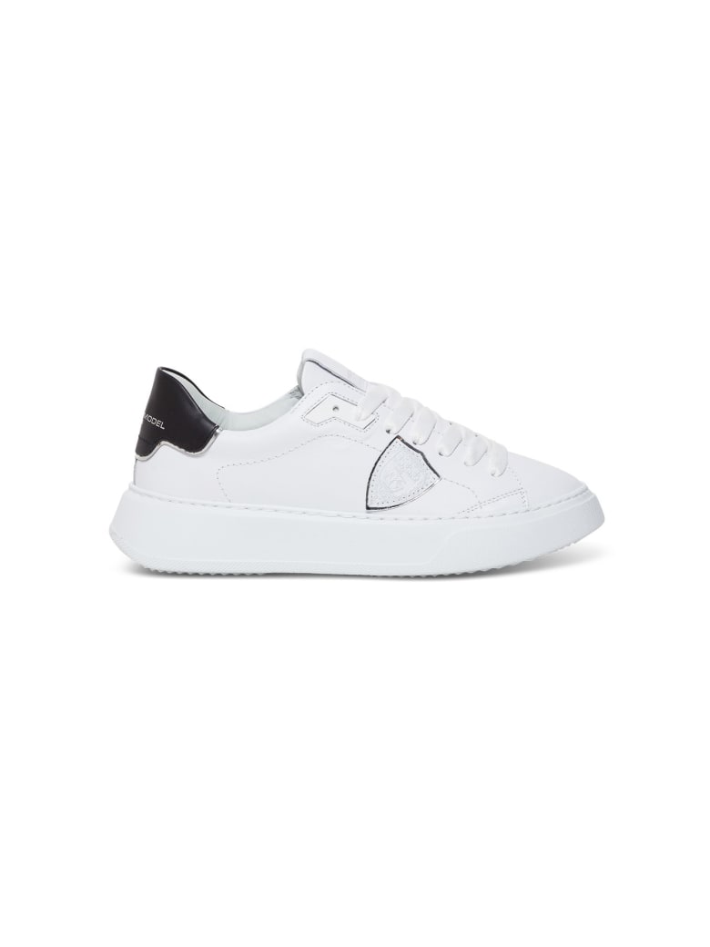Philippe Model Temple Veau Leather Sneakers - White/black