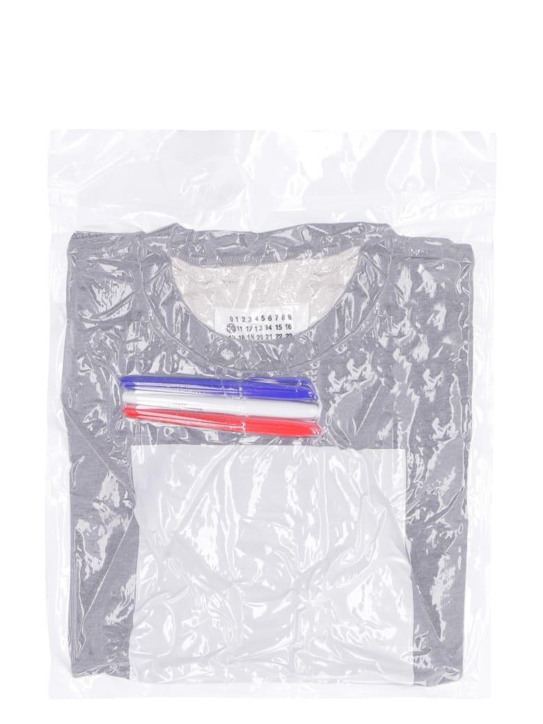 Maison Margiela Leave A Message Cotton Sweatshirt - grey