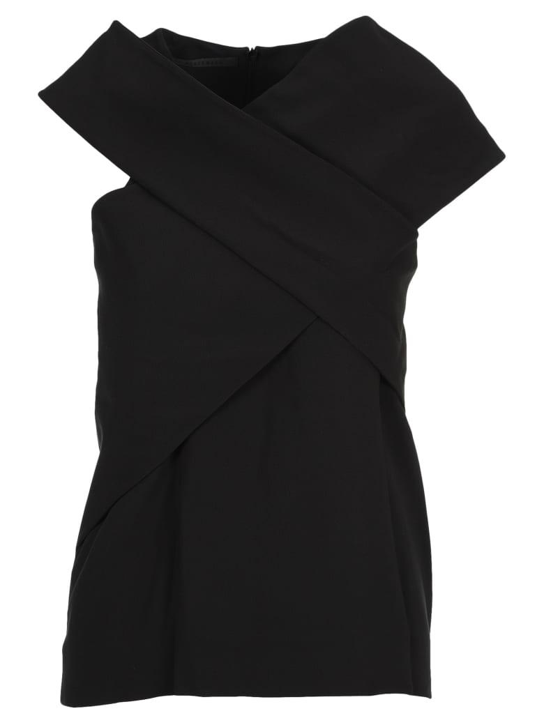 Haider Ackermann Foldover Strap Top - BLACK