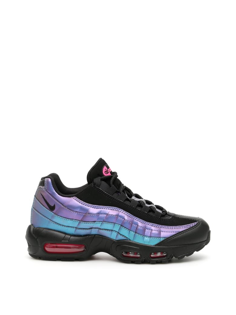 Nike Air Max 95 Premium Sneakers - BLACK LASER FUCHSIA (Purple)