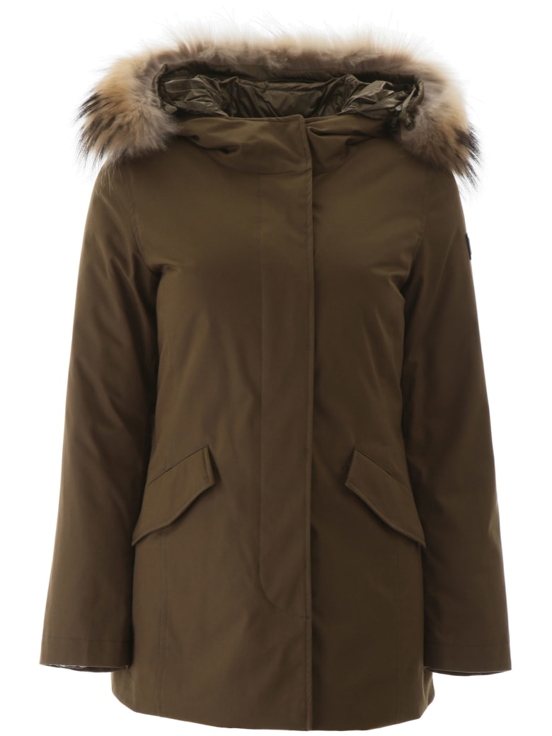 Woolrich Artic Parka With Murmasky Fur - ARMY OLIVE (Green)