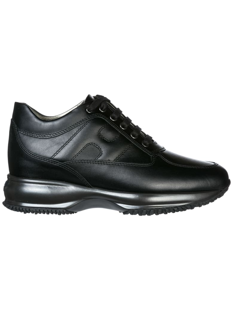 Hogan  Shoes Leather Trainers Sneakers Interactive - Nero