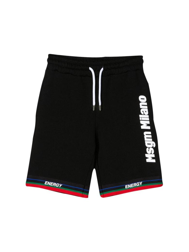 MSGM Kids Running Milano Shorts - Nero