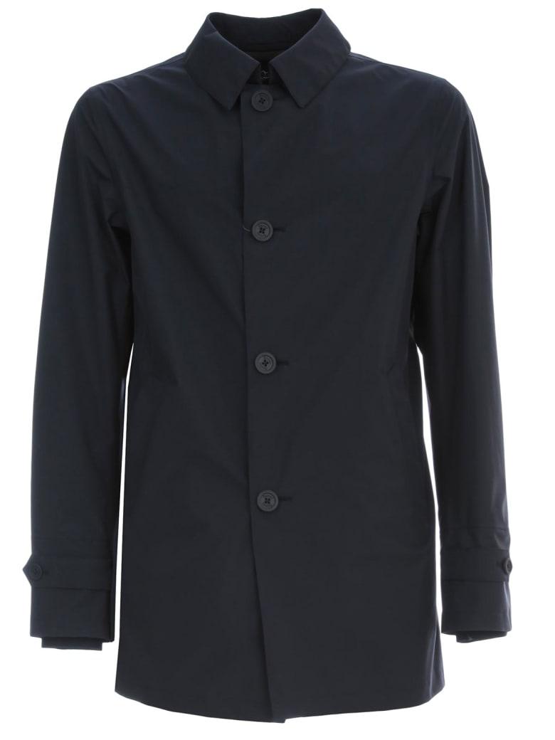 Herno Nylon Waterproof Coat W/hat - Blue