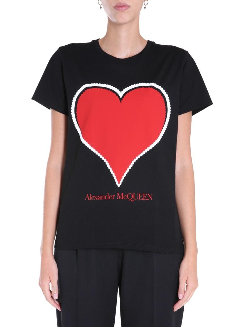 Alexander McQueen Crew Neck T-shirt - NERO