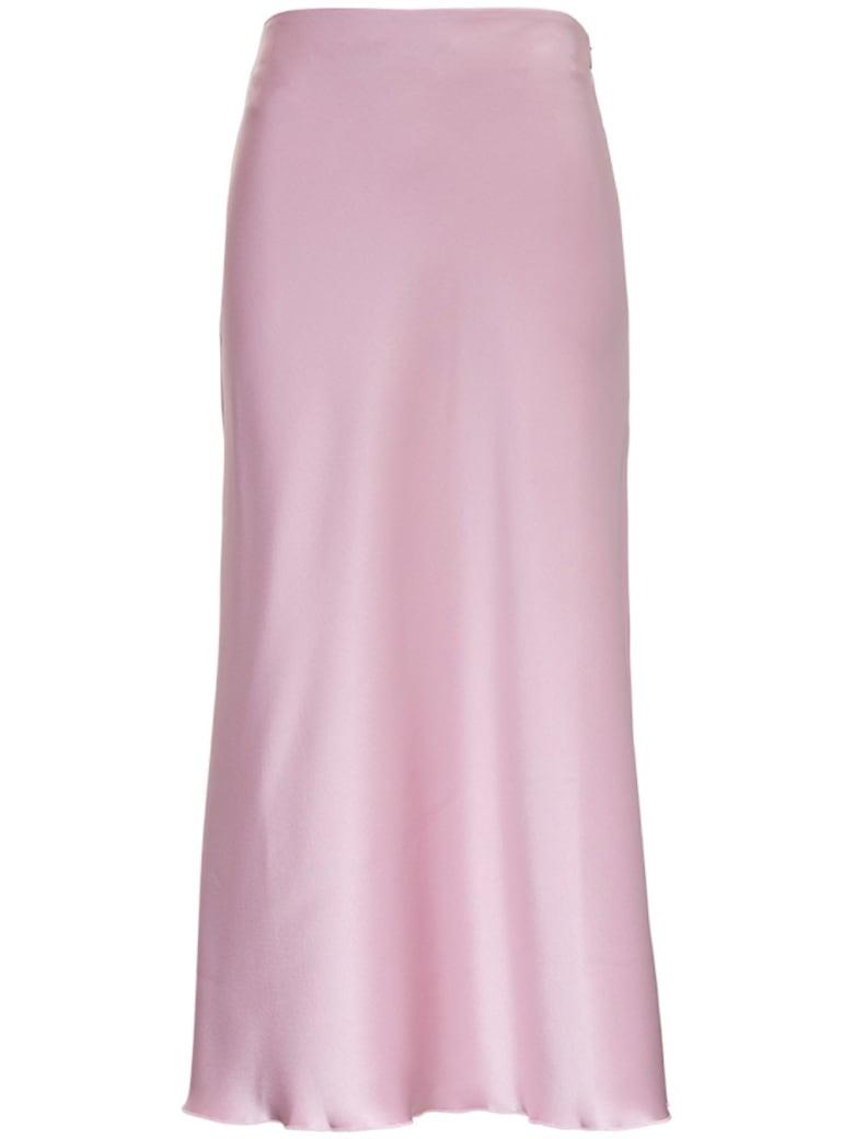 Nanushka Razi Skirt In Pink Satin - Pink