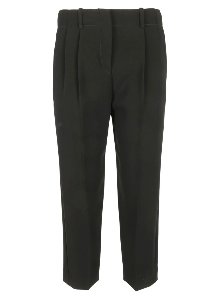 Theory Pleated Cropped Trousers - Black