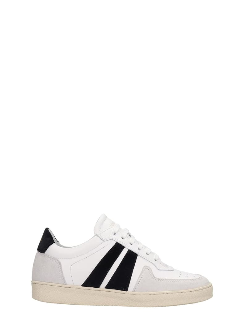 National Standard Sneakers In White Suede And Leather - white