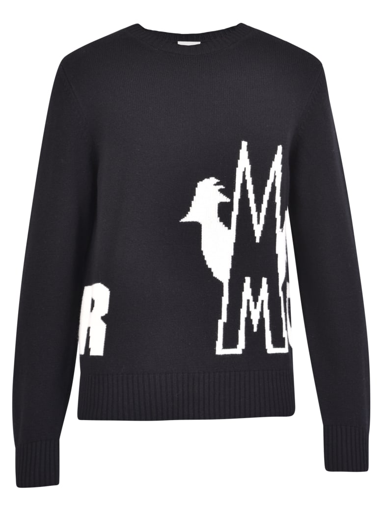 Moncler Intarsia Sweater - Black