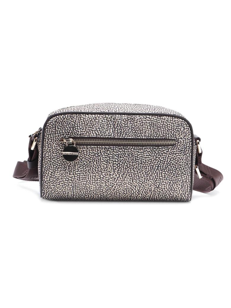 Borbonese Shoulder Bag Small - Op Naturale/marrone