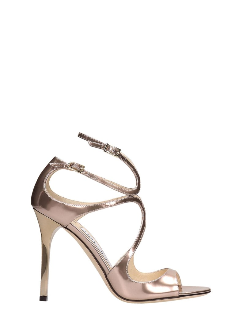 Jimmy Choo Lance Pink Patent Leather Sandals - rose-pink