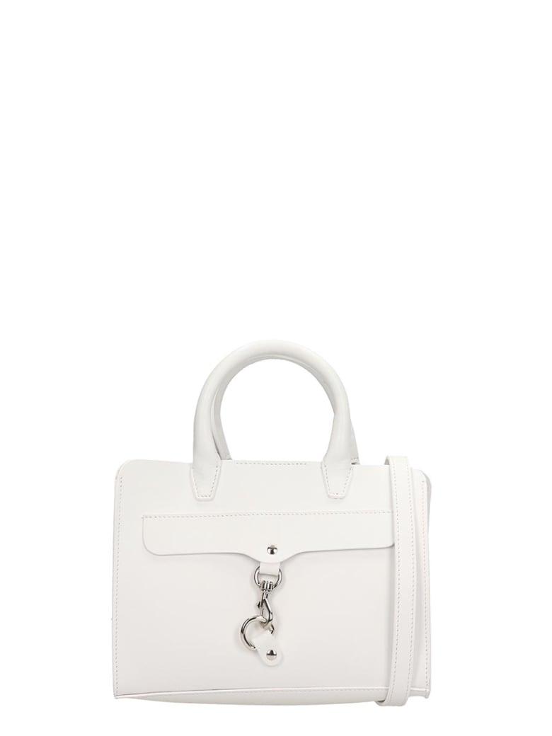 Rebecca Minkoff White Leather Mini Satchel Bag - white