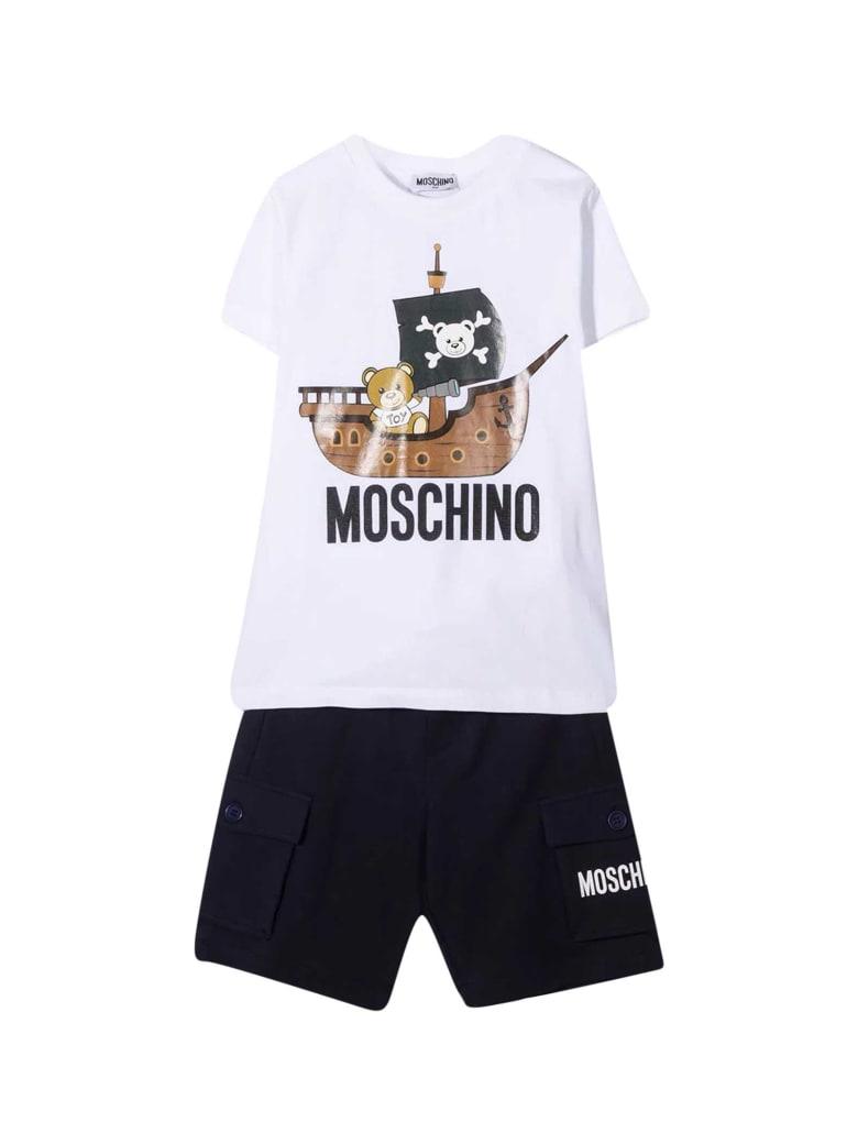 Moschino Teen Outfit - Bianco/blu