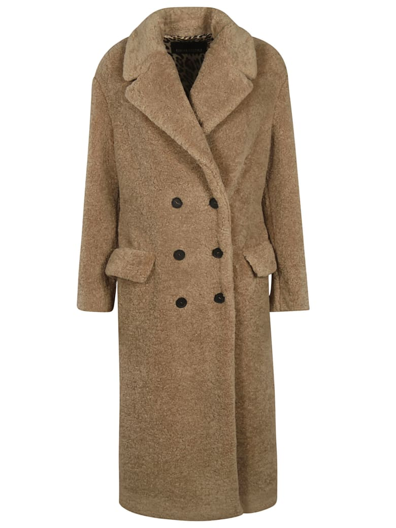 Ermanno Scervino Double Breasted Coat - camel