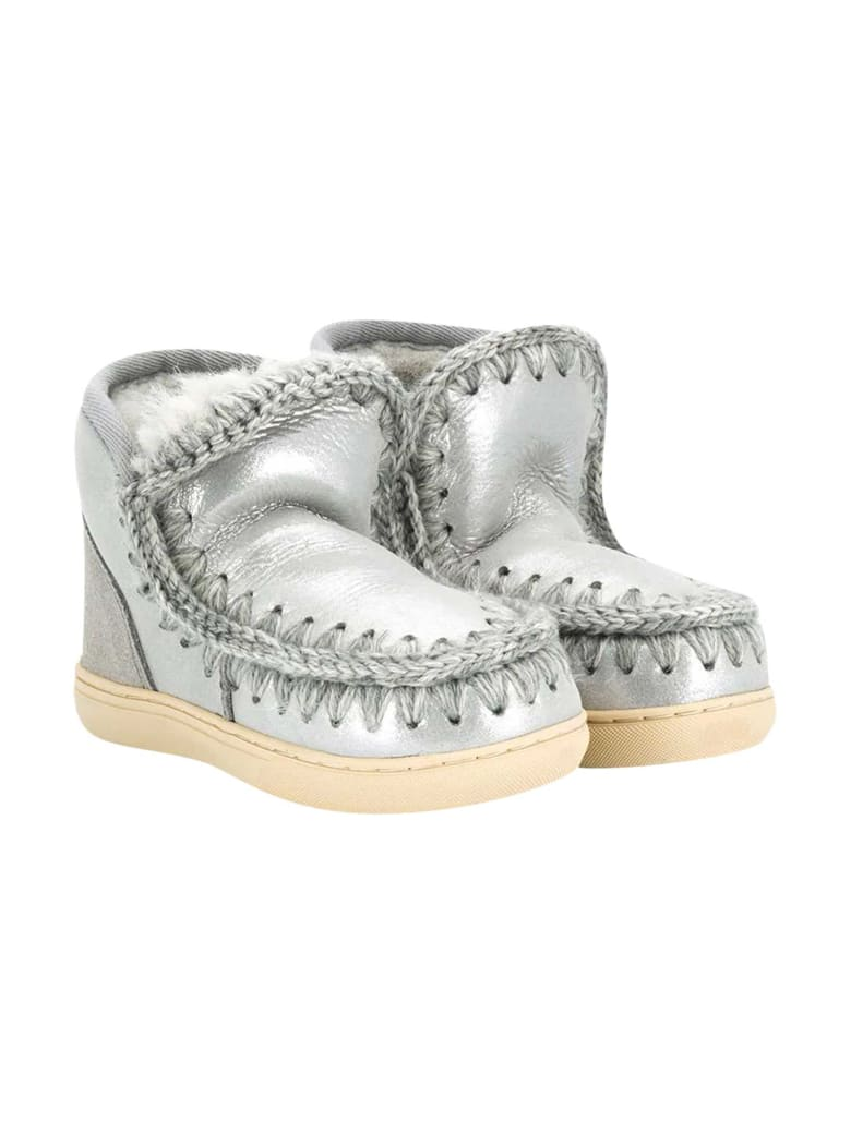 Mou Silver Ankle Boots - Unica