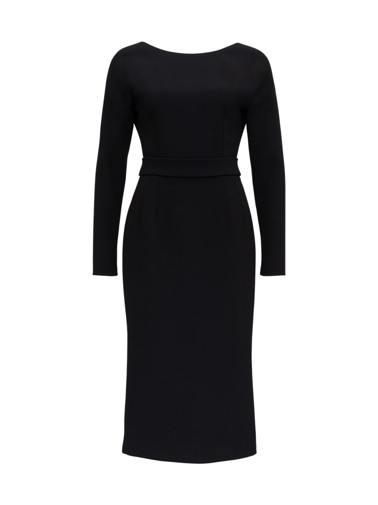 Dolce & Gabbana Crepe Midi Dress - Black