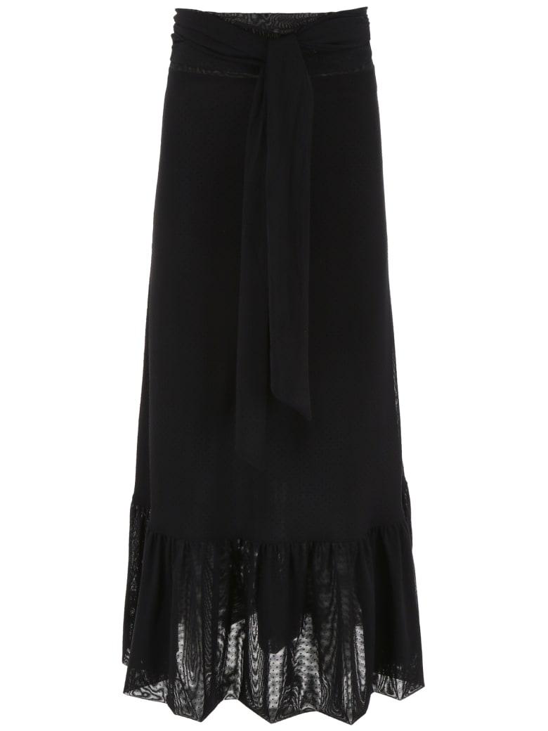 Ganni Wrap Skirt - BLACK (Black)