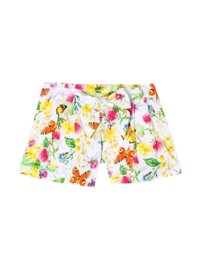 Miss Blumarine Floreal Multicolor Shorts - Unico