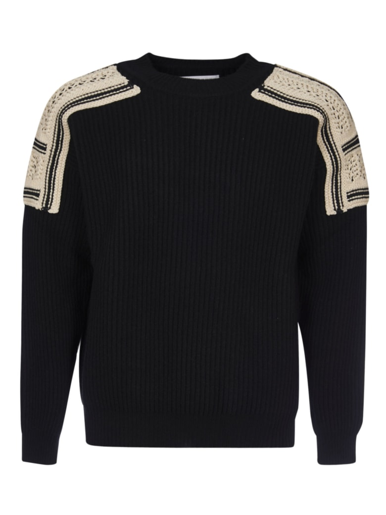 Jil Sander Embroidered Sweatshirt - Black