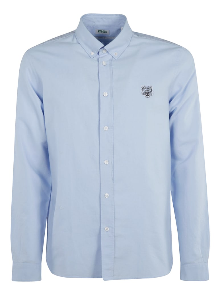 Kenzo Tiger Crest Casual Fit Shirt - sky blue