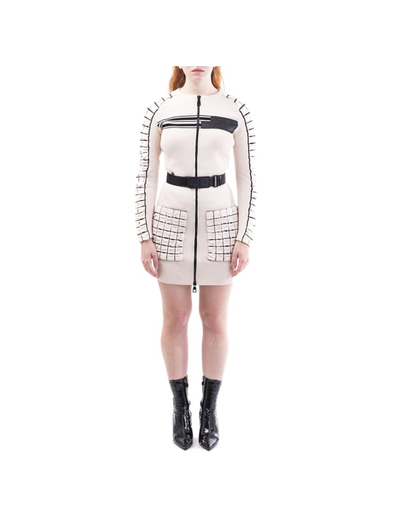Elisabetta Franchi Celyn B. Elisabetta Franchi Dress With Belt - Vanilla-Black