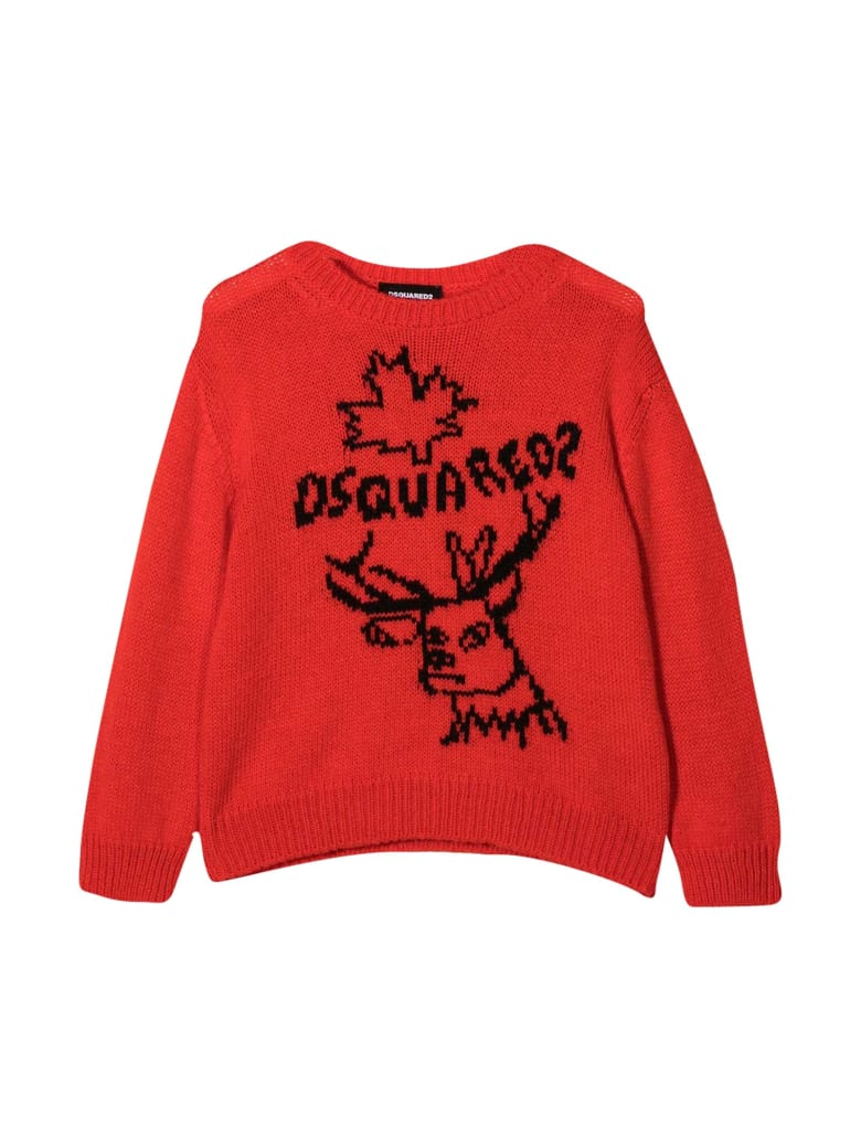 Dsquared2 Red Sweater - Rosso