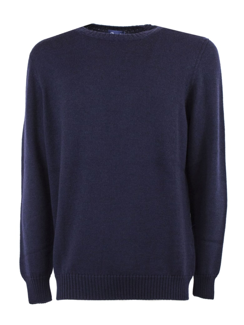 Drumohr Blue Merino Wool Sweater - BLU