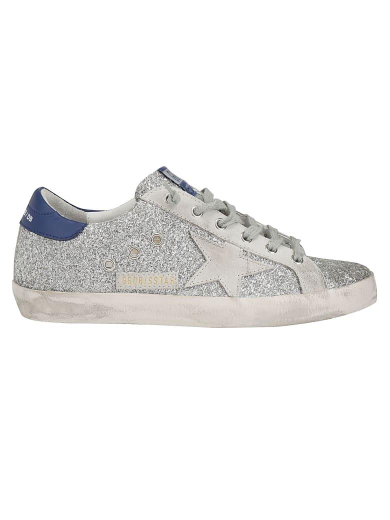 Golden Goose Superstar Sneaker - Silver/glitter blue