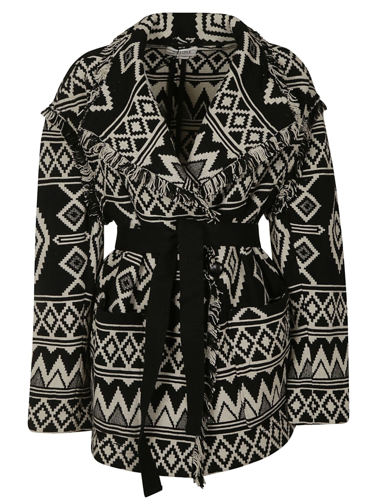 Isabel Marant Belted Knitted Cardi-coat - Black