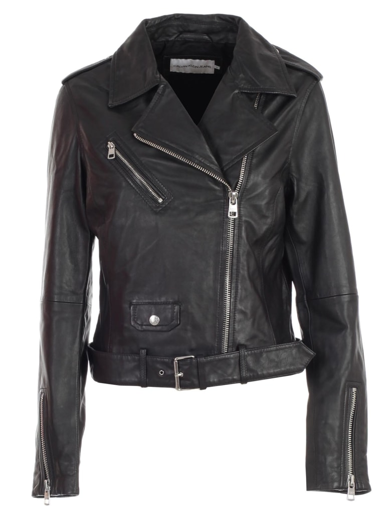 Calvin Klein Jeans Jacket Leather - Ck Black