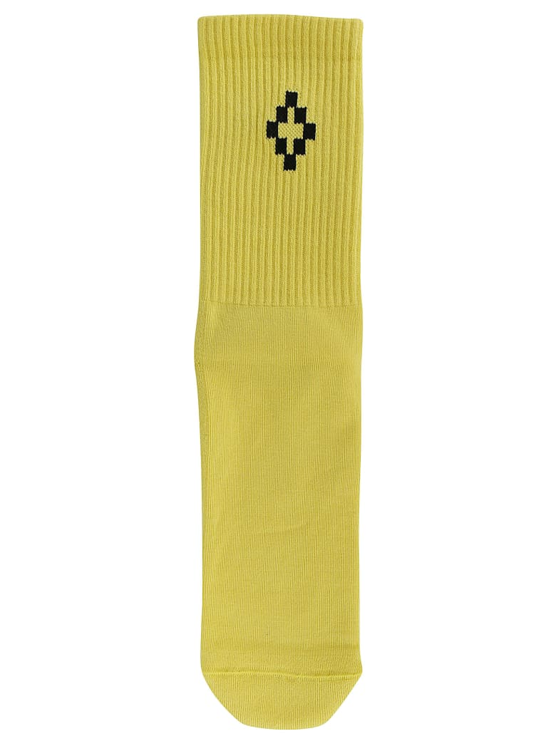 Marcelo Burlon Escape Cross Short Socks - Acid green