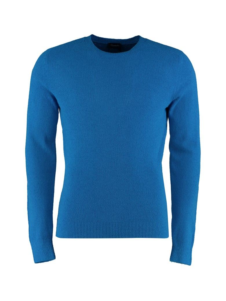 Drumohr Cotton-blend Crew-neck Sweater - blue