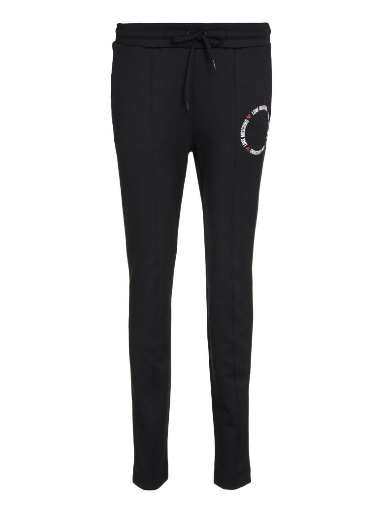 Love Moschino Techno Fabric Track Pants - black