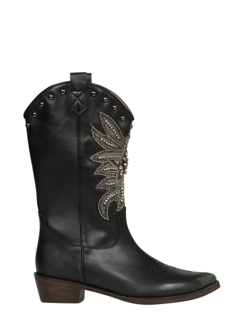 Coral Blue Shoes - Black