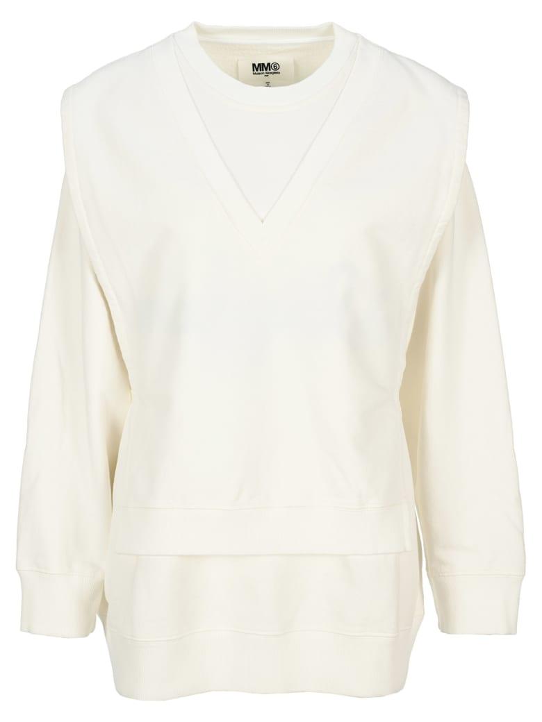 MM6 Maison Margiela Mm6 Layered Sweatshirt - WHITE