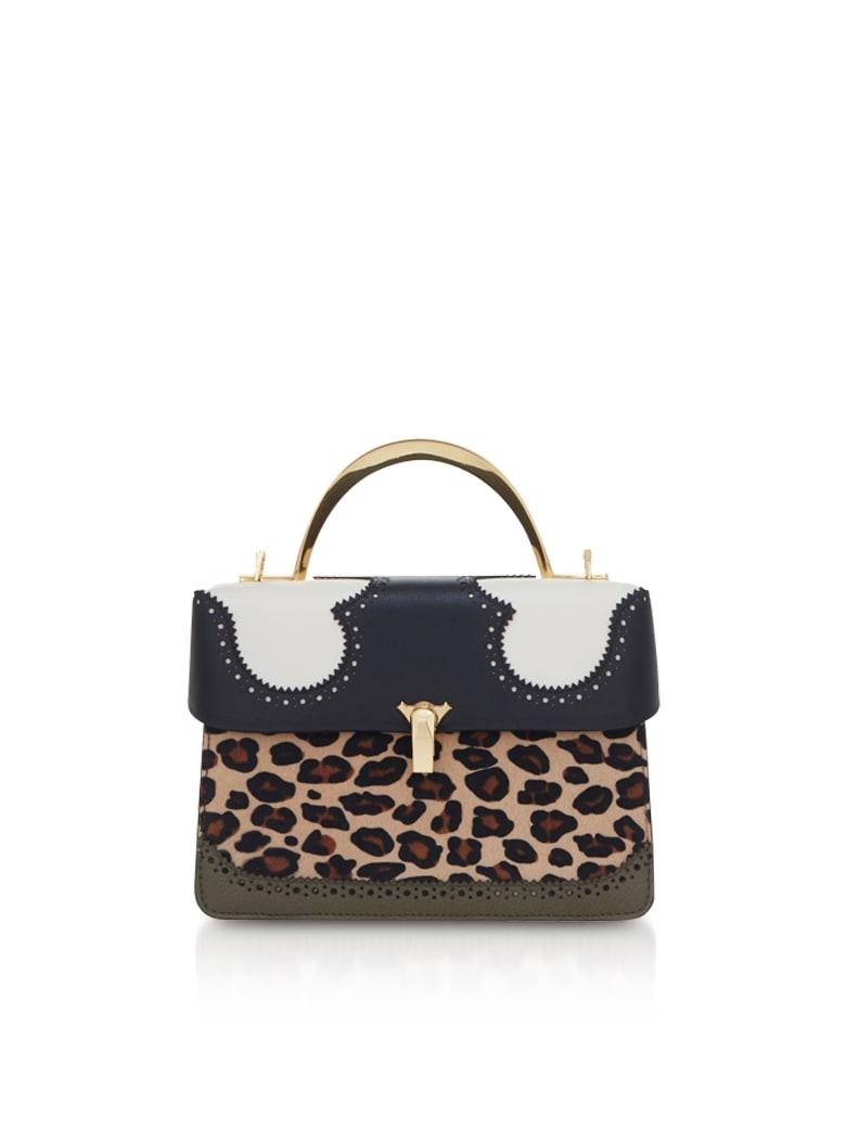 the VOLON Leopard Print Data Alice 2 Bag - White