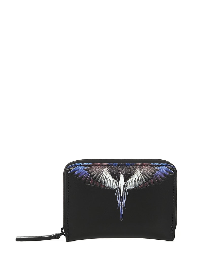 Marcelo Burlon Burgundy Wings Wallet - Black