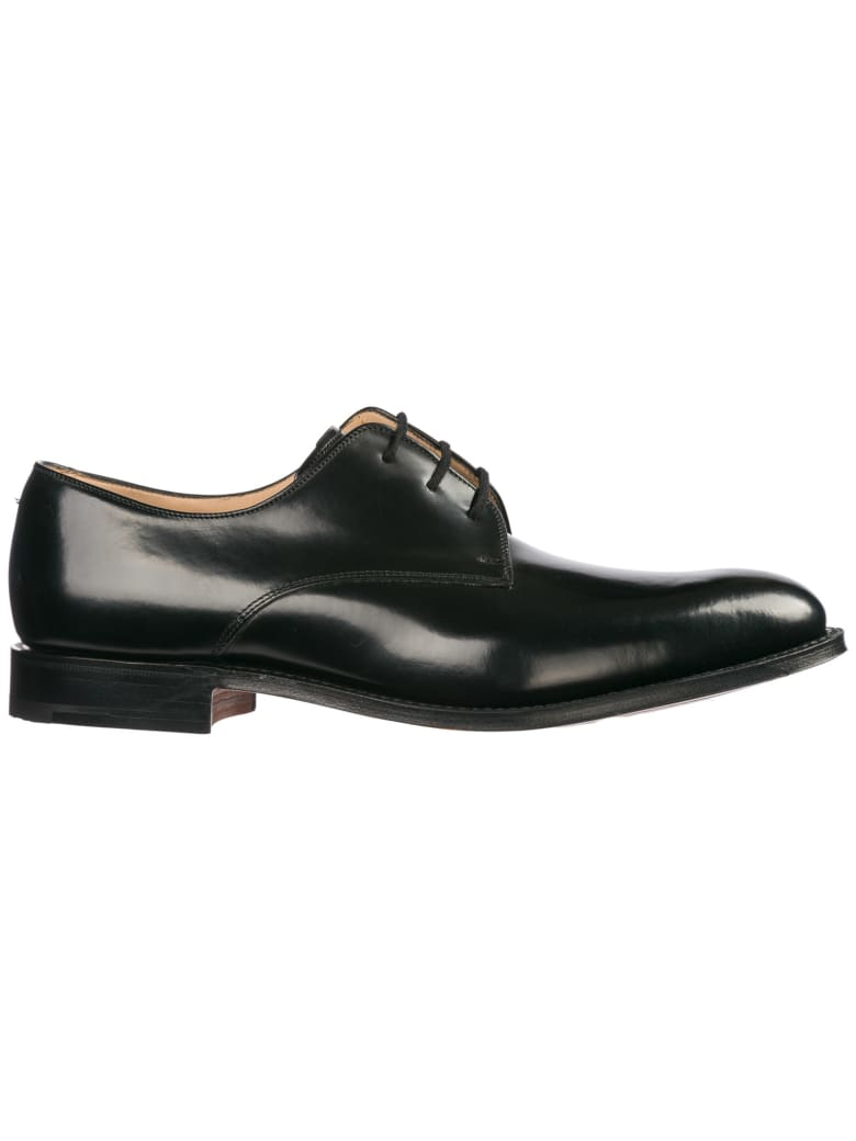 Church's  Classic Leather Lace Up Laced Formal Shoes Oslo Derby - Black